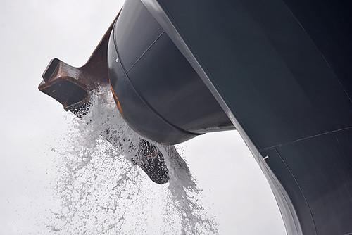 discharging water