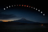 Lunar Eclipse Over Mt. Shasta Again
