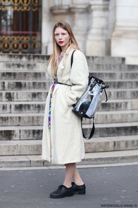 Marie Jensen at Paris fashion week