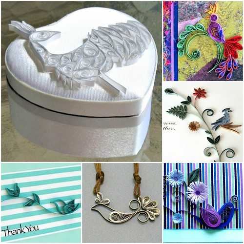 Quilled bird round up with six examples