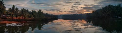 india sunrise river bliss karnataka mangalore