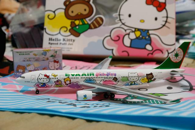 長榮航空 Hello Kitty 雲彩機模型