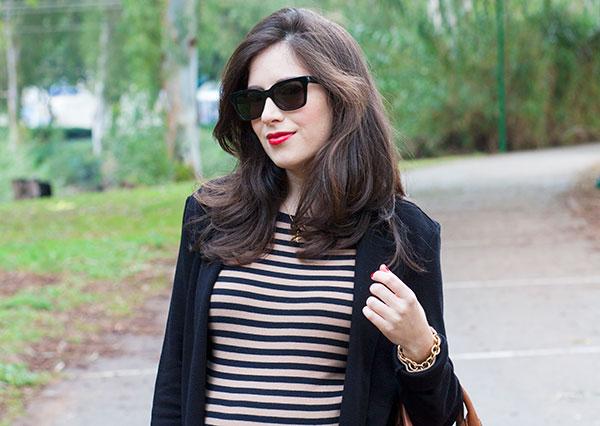 eye like optic, super sunglasses, stripe dress, אופטיקה רעננה, משקפי שמש סופר, שמלת פסים, בלוג אופנה
