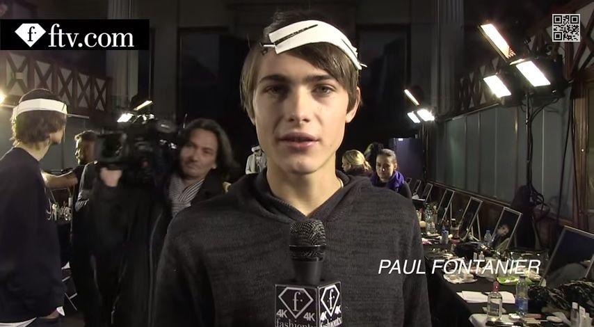 Paul Fontanier3030_FW15 Paris Kris Van Assche(youtube.com)