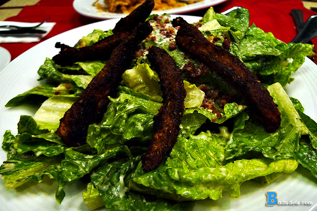 Salad with Blackened Chicken Strips