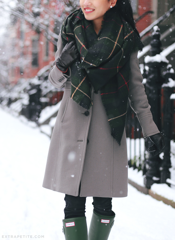 hunter green and taupe winter outfit2
