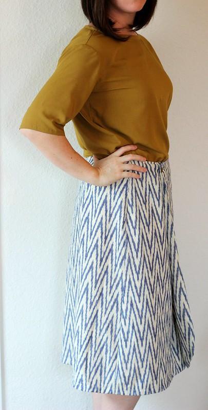 Feb. 4 Vintage Anne Adams wrap skirt pattern and Simplicity 1366