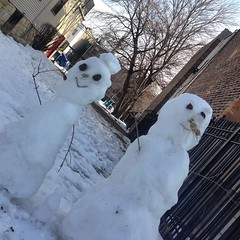 Another rough day at the office... #snowpeople #chicago