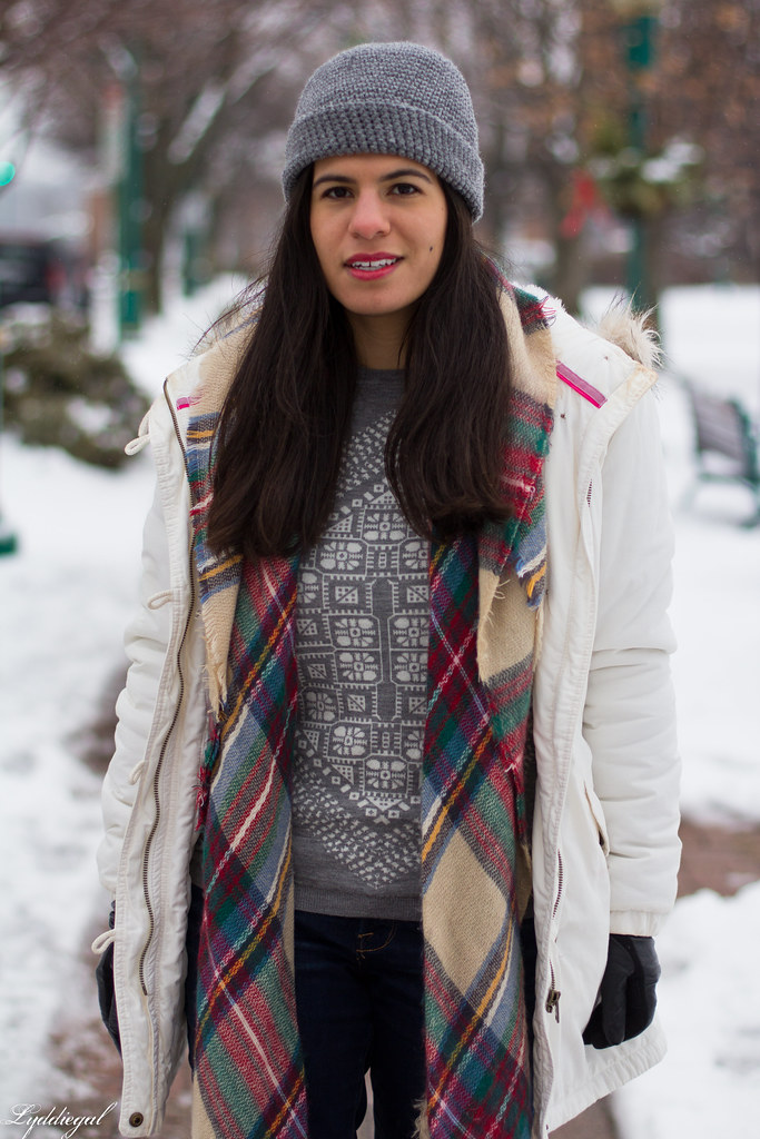 scarf print sweater, white parka, plaid scarf-2.jpg