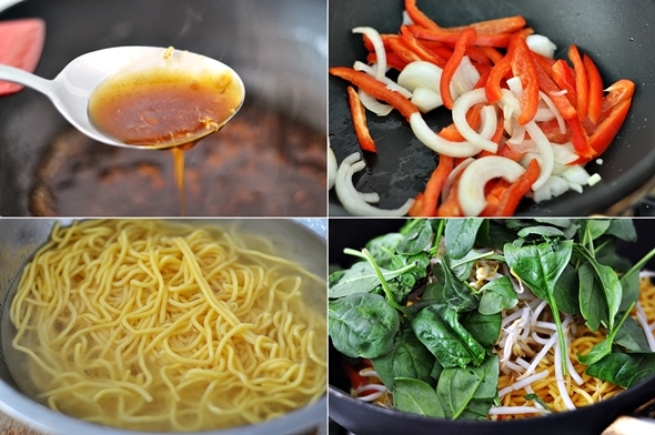 Speedy Vegetarian Friendly Teriyaki Noodles Recipe | www.fussfreecooking.com