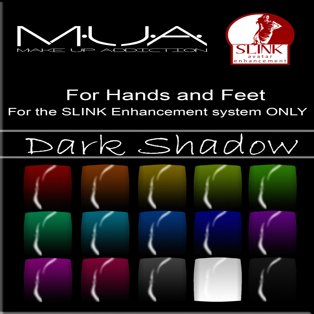 {MUA} - Slink Nails HUD -Dark Shadow