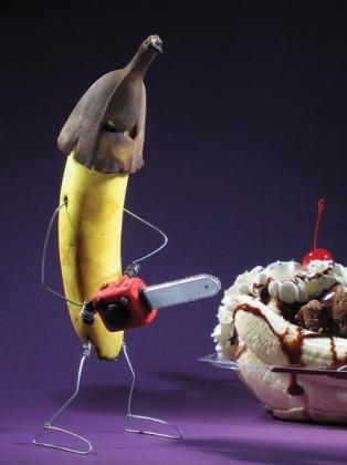 Imagen graciosa de comida preparando postre