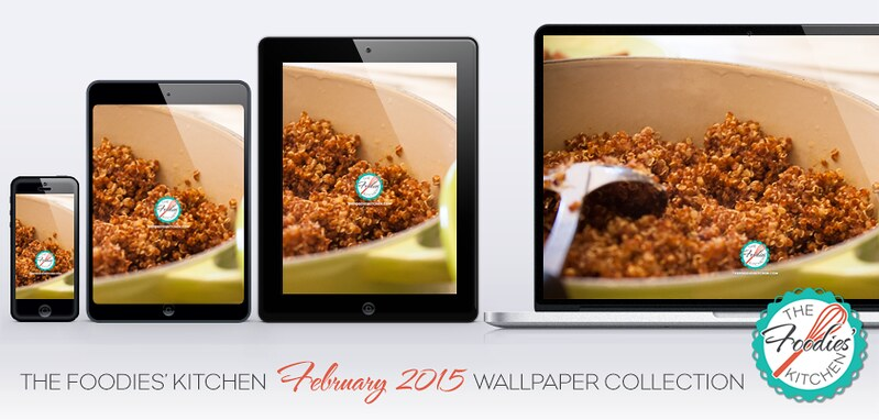 Foodies Freebie: February 2015 Wallpaper Collection