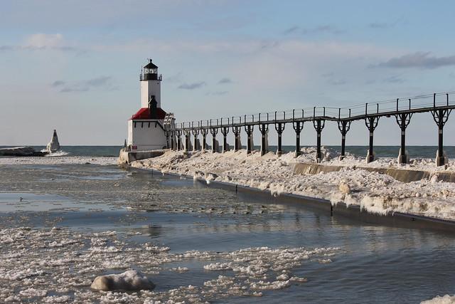 Michigan City Pier Lighthouse Michigan City Indiana Friday January 30 2015 Flickr