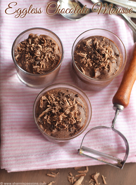 Eggless Chocolate Mousse Recipe