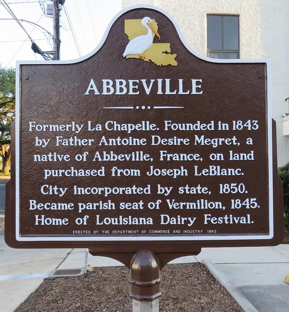 Abbeville Marker (Abbeville, Louisiana)