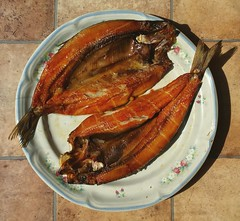 Food Kipper Fish Still Life Plate Looking Down Tab…