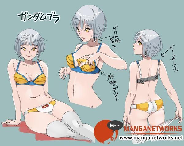 26950025233 364b950554 o  Bỏng mắt  với các thiết kế Bikini từ các Robot trong Mobile Suit Gundam