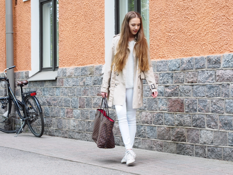 An all white outfit