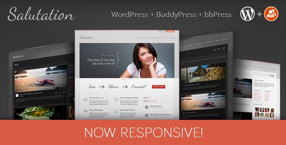 Salutation v3.0.10 - Themeforest Responsive WP + BuddyPress