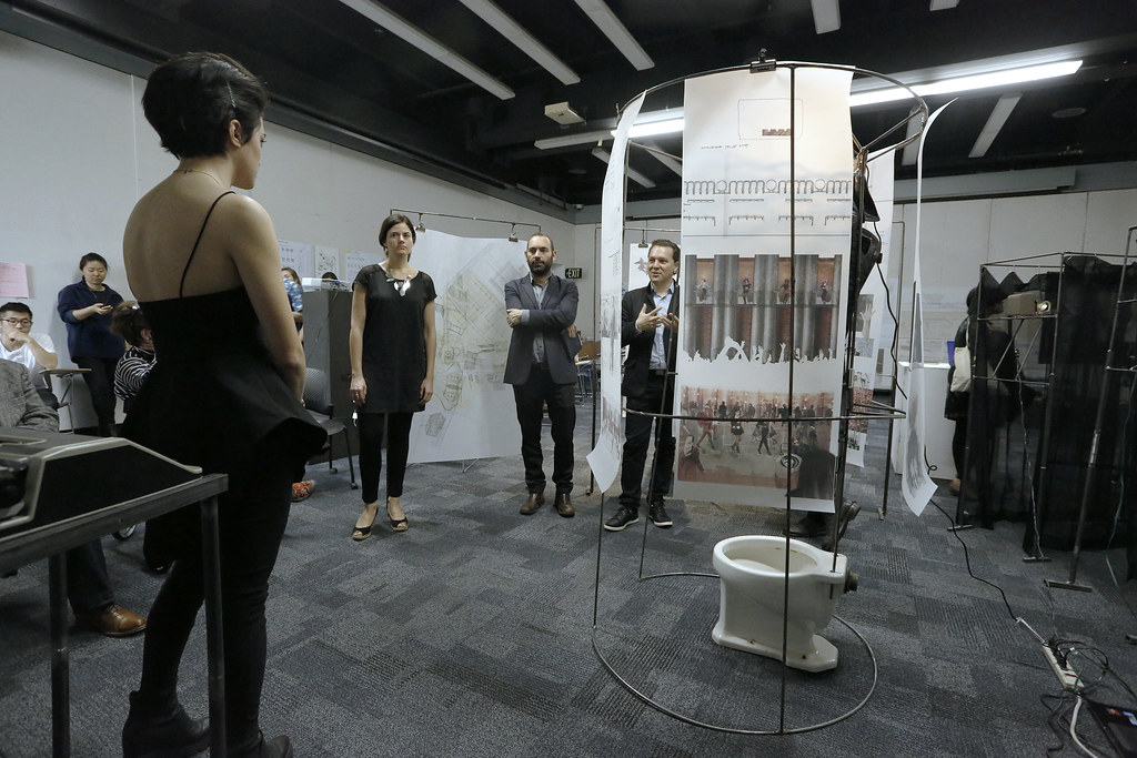 "Department of Architecture Visiting Critic Julian Palacio responds to Angela Carbone's project, ""Methods into Madness: The Unrestroom."""