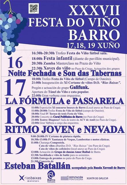Barro 2016 - XXXVII Festa do Viño de Barro - programa