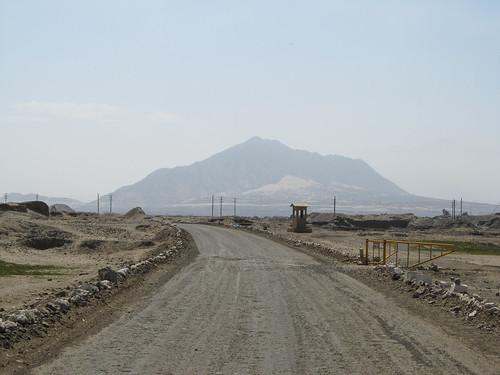 Petite marche avant d'arriver au site archéologique de Chan Chan