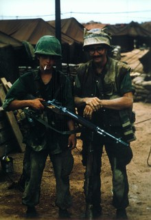 Lance Corporal Paul Peeples and Corporal Thomas Shea, April 1967