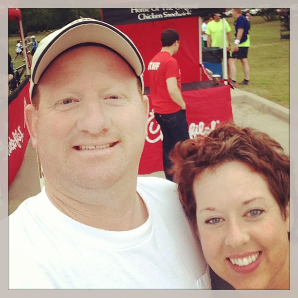 This guy comes out for every race I do. Love him! BTW, the 5k was great.