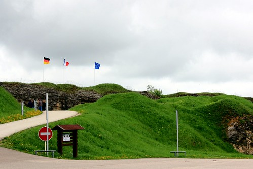 Flags at Fort Douaumont of Verdun
