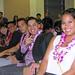"School of Travel Industry Management graduates Chi Wai Chan, Alvin Castro, Lazar Bogdanovski, August ""Kino"" Belden and Nerine Asbel at the school's graduation ceremony."
