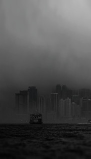 Silent City of Hong Kong Victoria Harbour