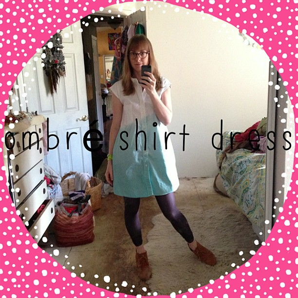 I should plan these better... Up cycled men's dress shirt to shirt dress for #sonp #mess #ABeautifulMess