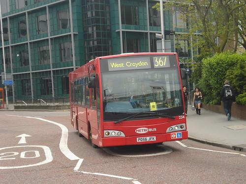 Metrobus 234 on Route 367, East Croydon