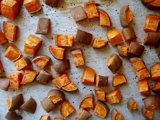 Herb & Ginger Roasted Sweet Potato: Roasted