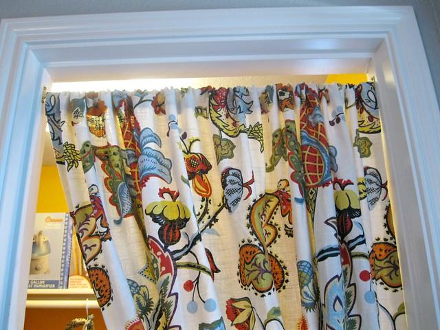 lowered curtain bar
