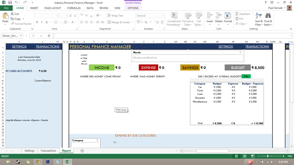 indzara: Personal Finance Manager (Excel template)