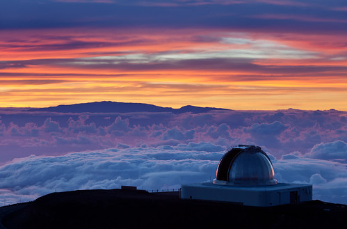 sunset clouds hawaii maui nasa observatory telescope infrared astronomy facility maunakea earthandspace irtf