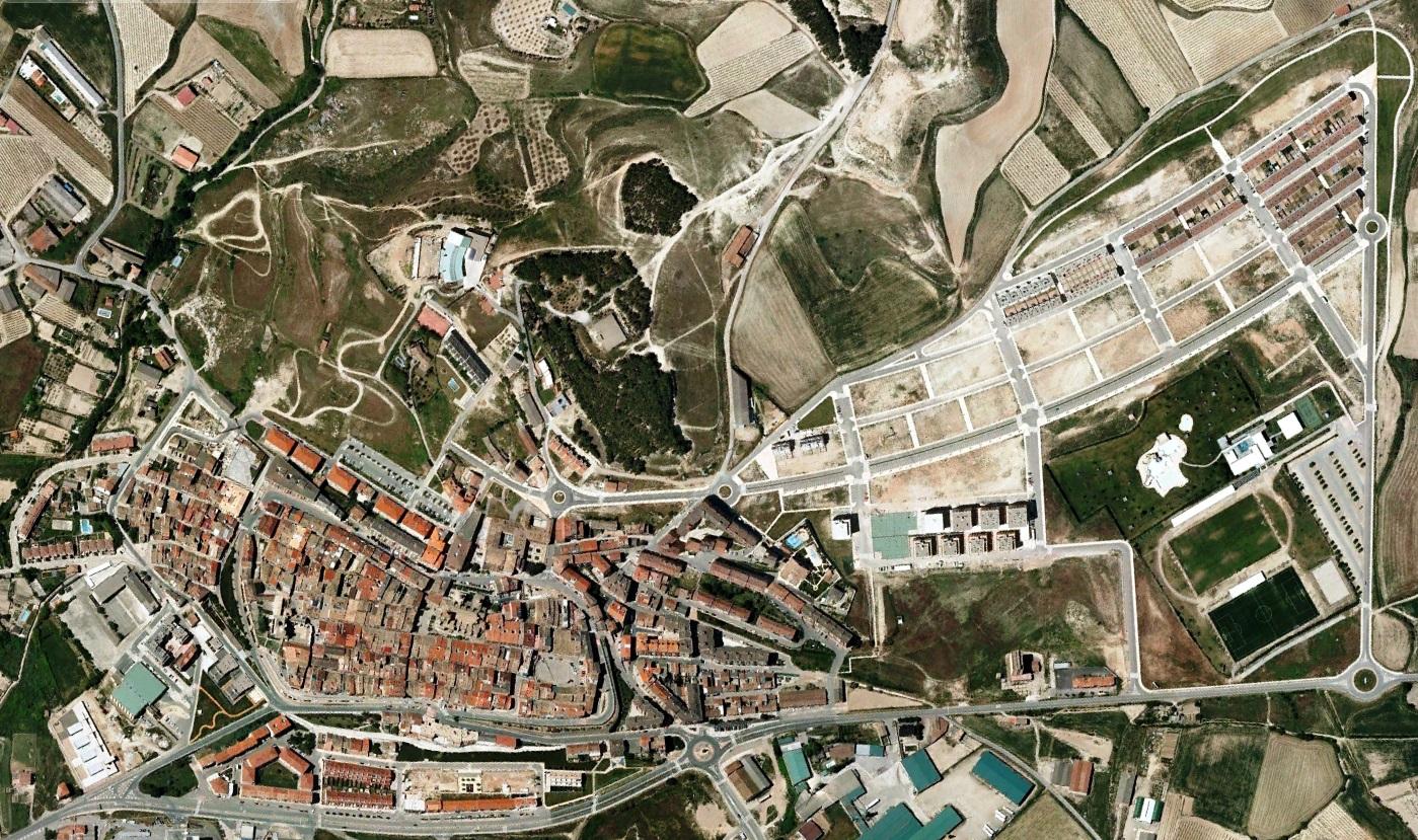 después, urbanismo, foto aérea,desastre, urbanístico, planeamiento, urbano, construcción,Viana, Navarra