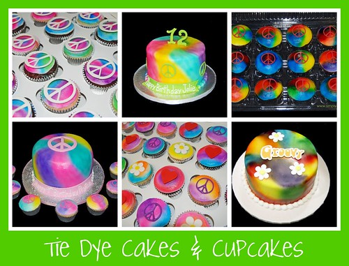 Tie Dye Cakes and Cupcakes