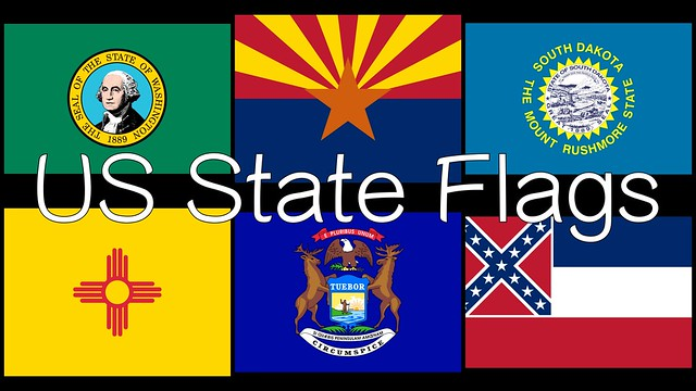 US State Flags Free Video Flash Cards