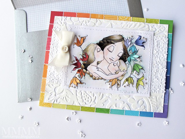 A Day For Daisies 'i love my two girls' card by mel stampz