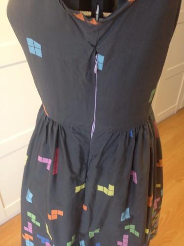 Spoonflower Tetris Vogue 9929 zipper