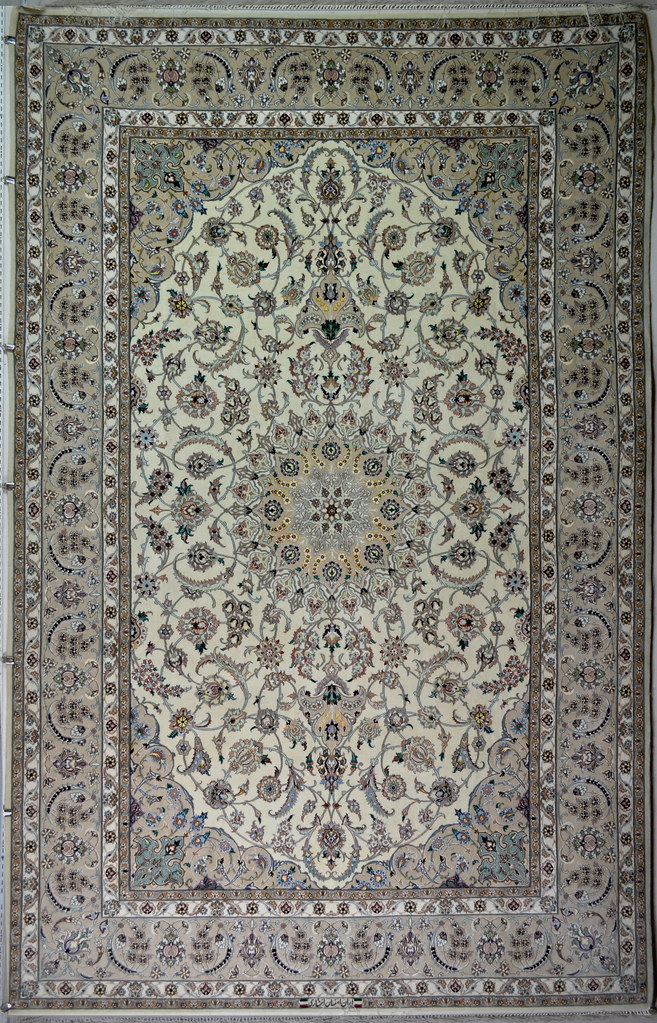 Isfahan 7x10 Mater Piece Persian Silk Rug