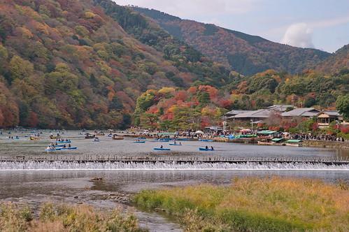 【写真】紅葉 : 渡月橋