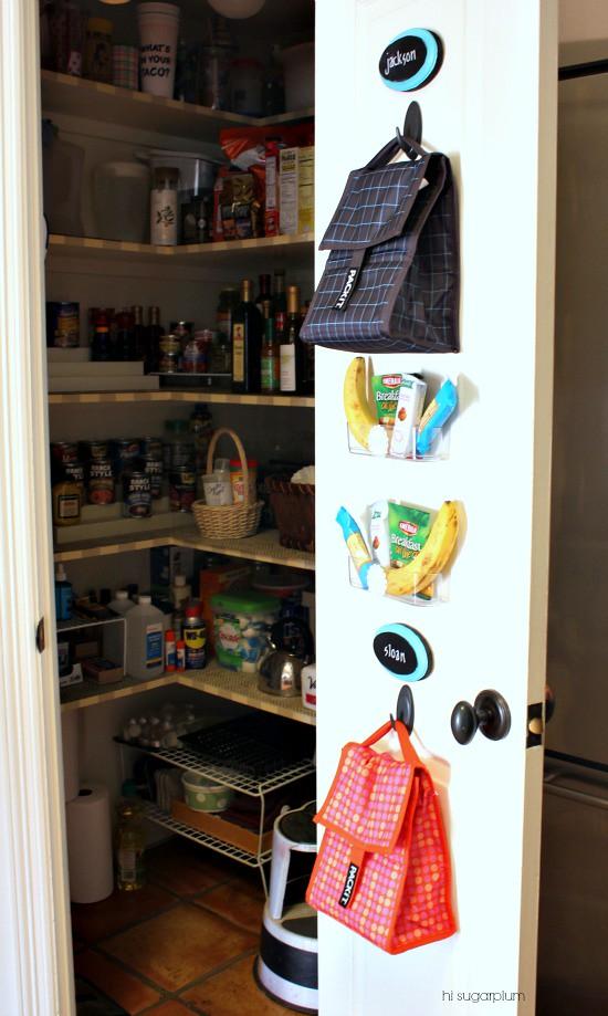 Hi Sugarplum | Organized Lunch Box Station