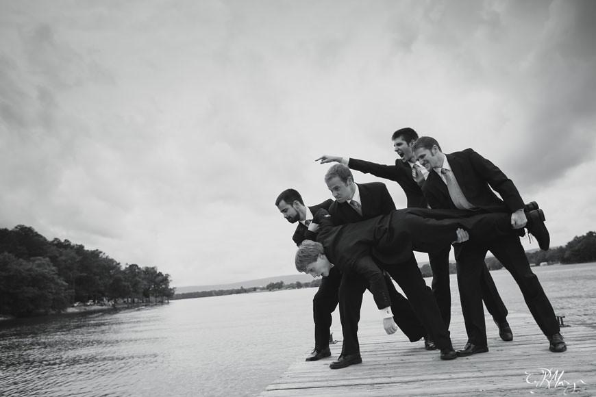 Groomsmen-throwing-groom