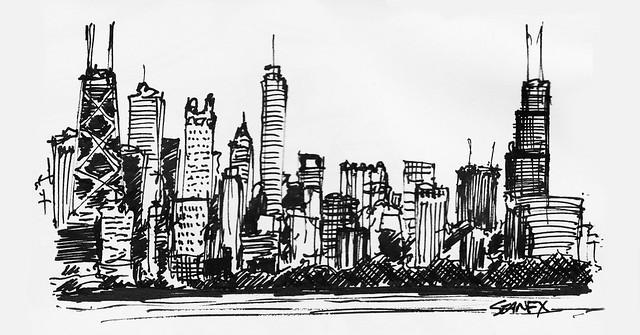 Chicago Skyline   Flickr - Photo Sharing!