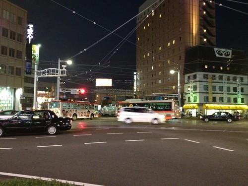 今晩のはりまや橋交差点 by haruhiko_iyota