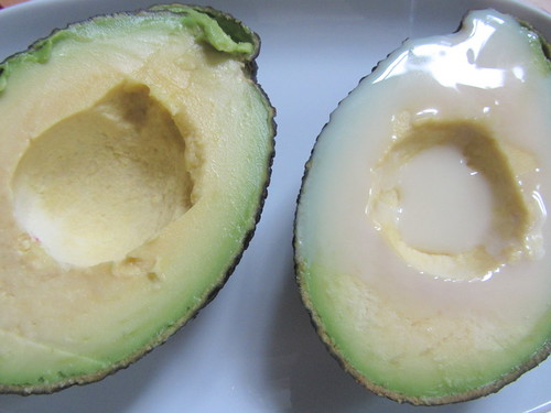 avocado with sweet milk